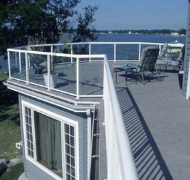 Roofdeck featuring Duradek Marble Slate (discontinued color)