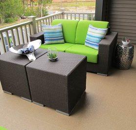 Duradek Vinyl Decking on porches, patio and decks