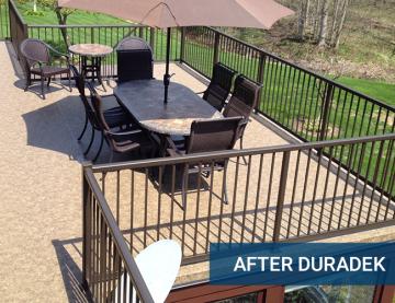 Duradek project - after Lakeview Deck & Rail
