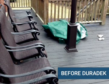 Duradek project - before Lakeview Deck & Rail