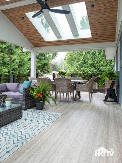 Duradek wood grain waterproof vinyl roof deck