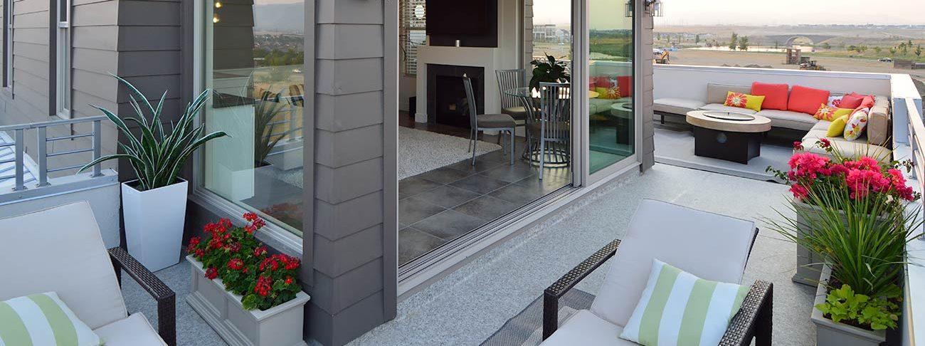 Roof deck with Duradek vinyl decking