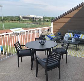 Duradek vinyl decks are low maintenance, slip-resistant and provides lots of dry storage below