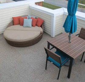 Duradek Heritage Sienna Vinyl Decking on Multi-residential Rooftop Deck
